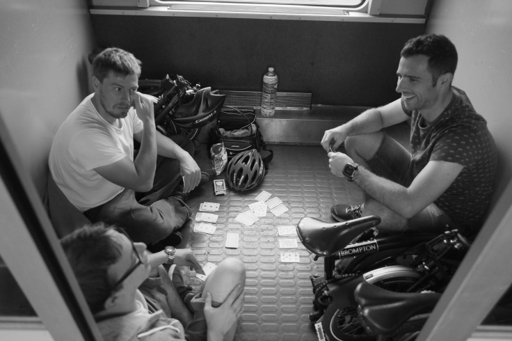 15. Playing Cards on the SNCF Train Compiegne to Paris Nord