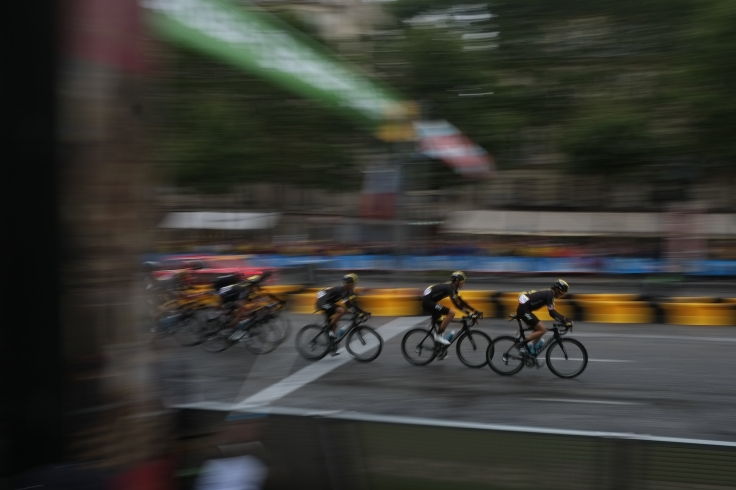 16. Team Sky on the Champs d'elysees