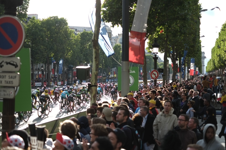 23. FInal Stage of the 2015 Tour De France on Champs d'elysees Paris