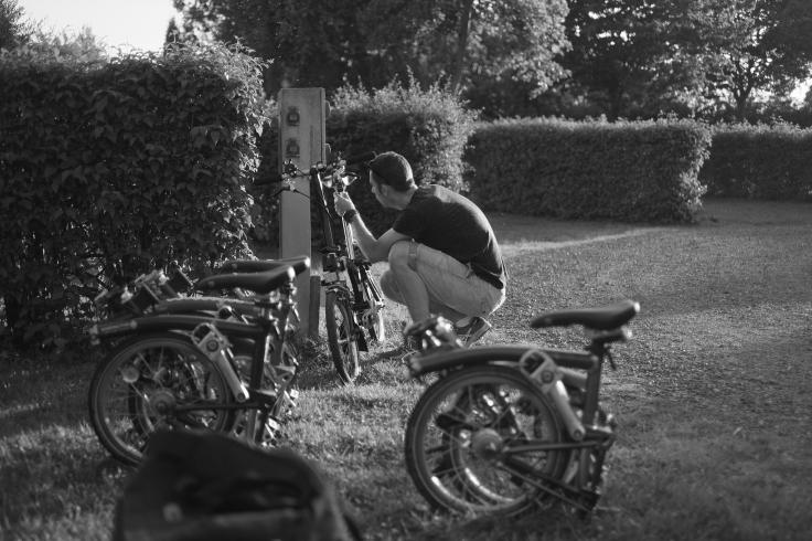 7. Working on the Brompton Folding Bikes